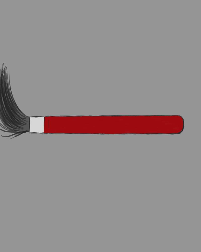Paintbrush Daily sketch #575 by GothicVampireFreak