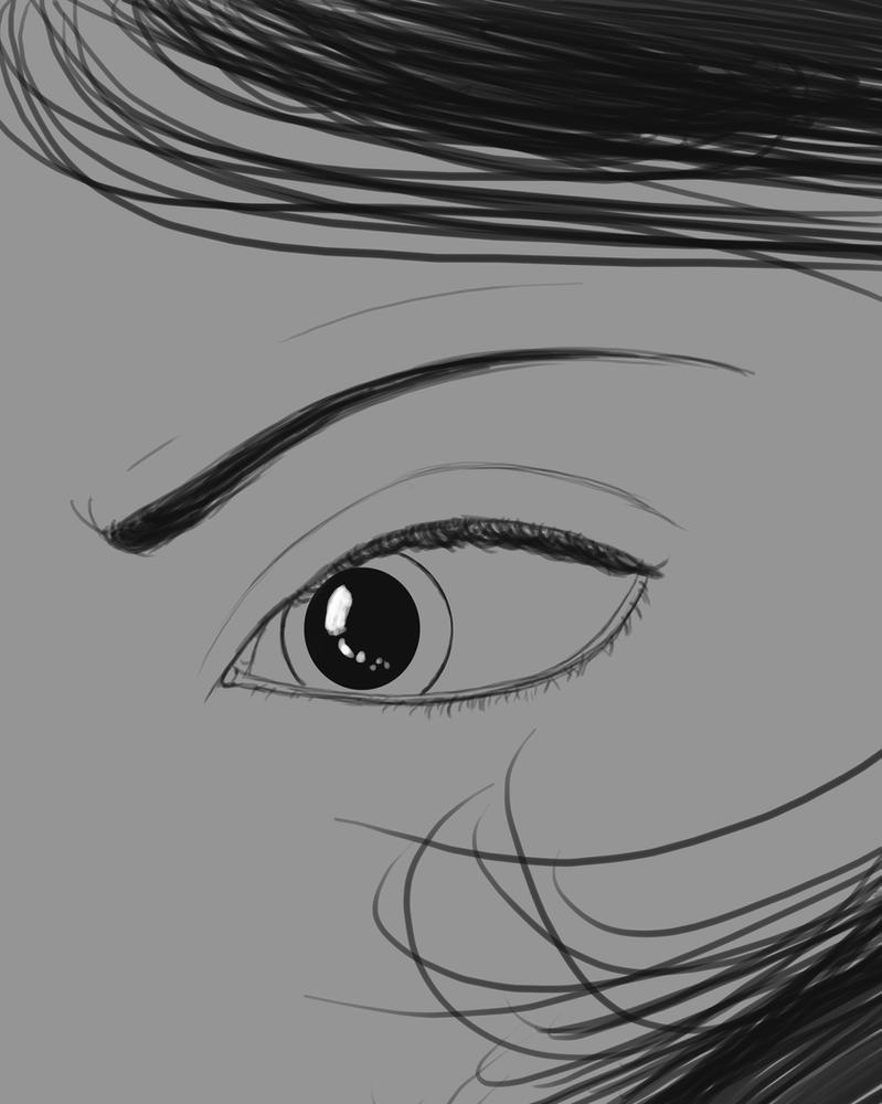 Yet Another Eye Daily sketch #577 by GothicVampireFreak
