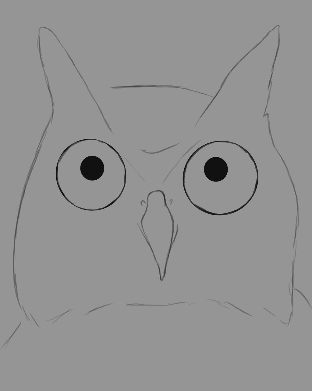 Owl Sketch Daily sketch #580 by GothicVampireFreak
