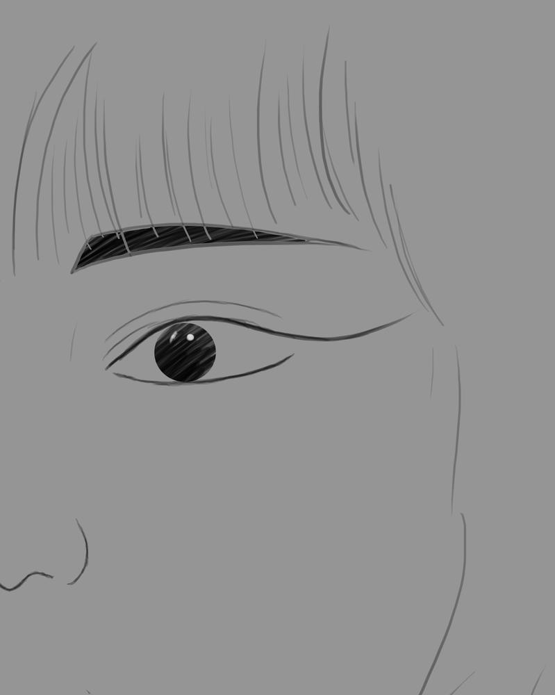 Close Daily sketch #600 by GothicVampireFreak