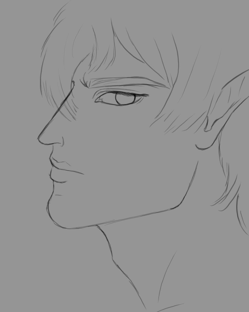 Elf Man Daily sketch #606 by GothicVampireFreak