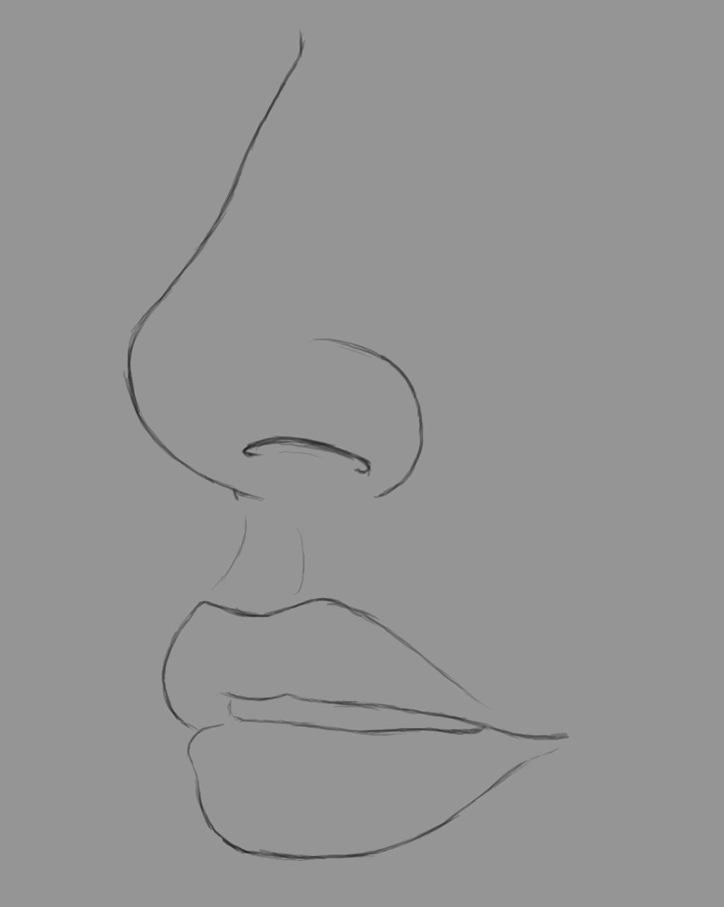 NoseAndMouth Daily sketch #609 by GothicVampireFreak