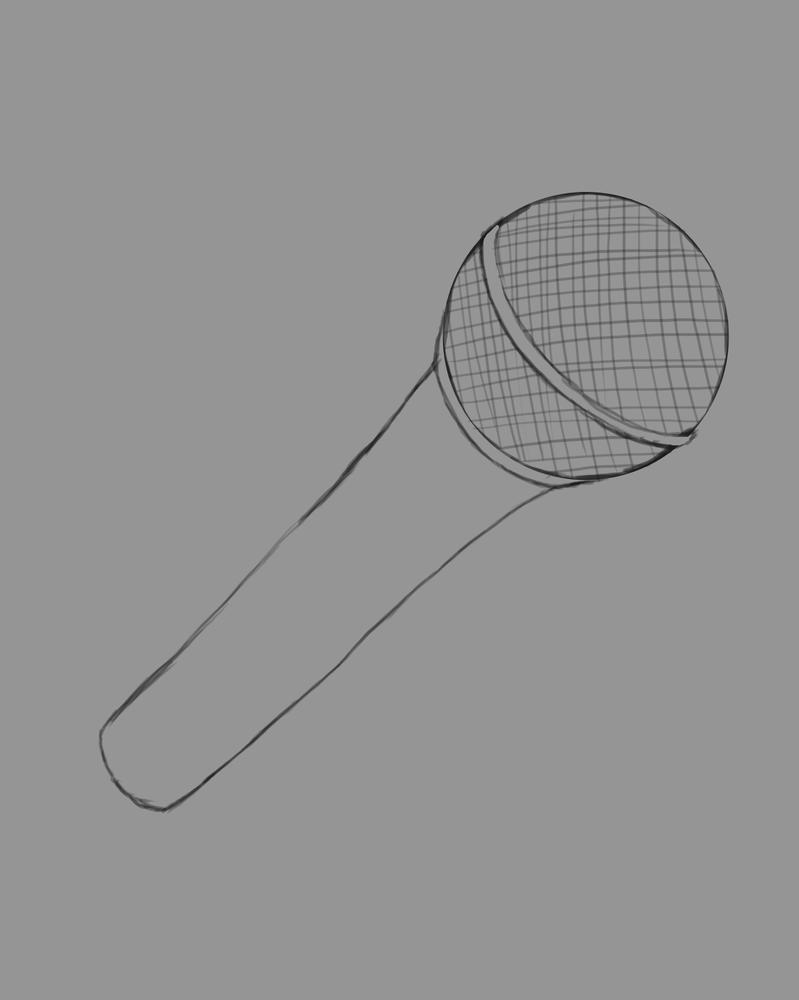 Microphone Daily sketch #611 by GothicVampireFreak