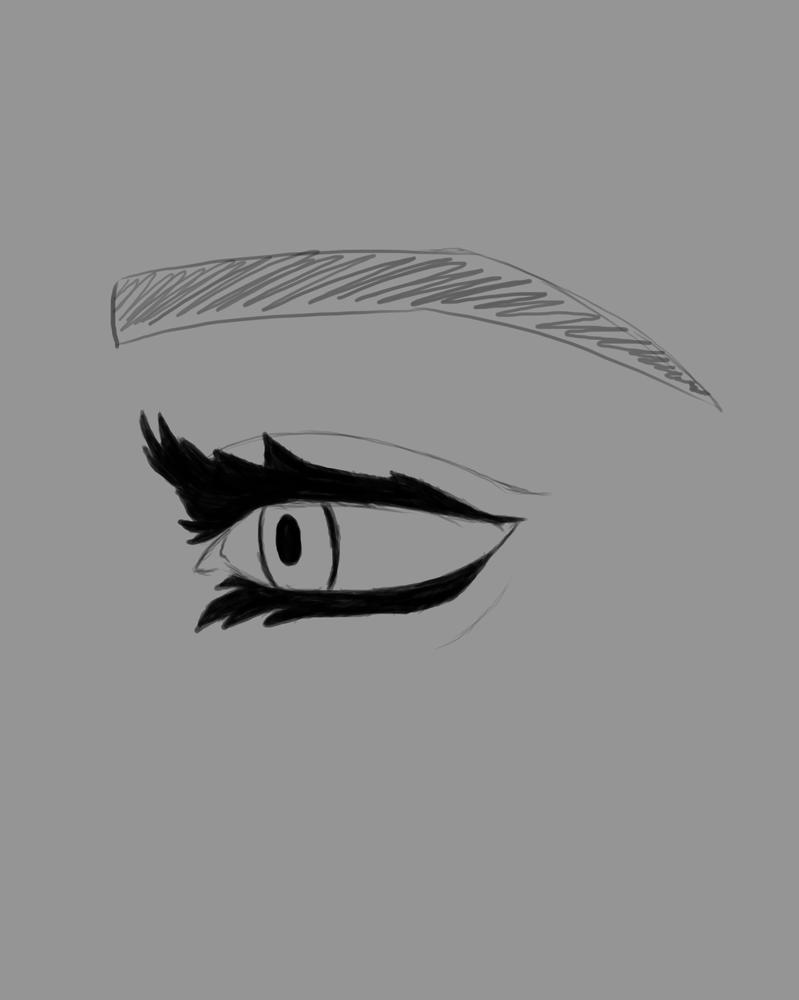 Lashed Eye Daily sketch #639 by GothicVampireFreak