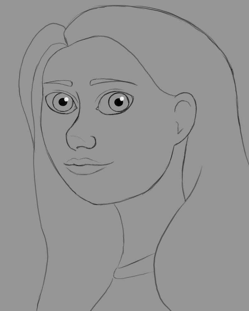 Big Eyes Daily sketch #640 by GothicVampireFreak