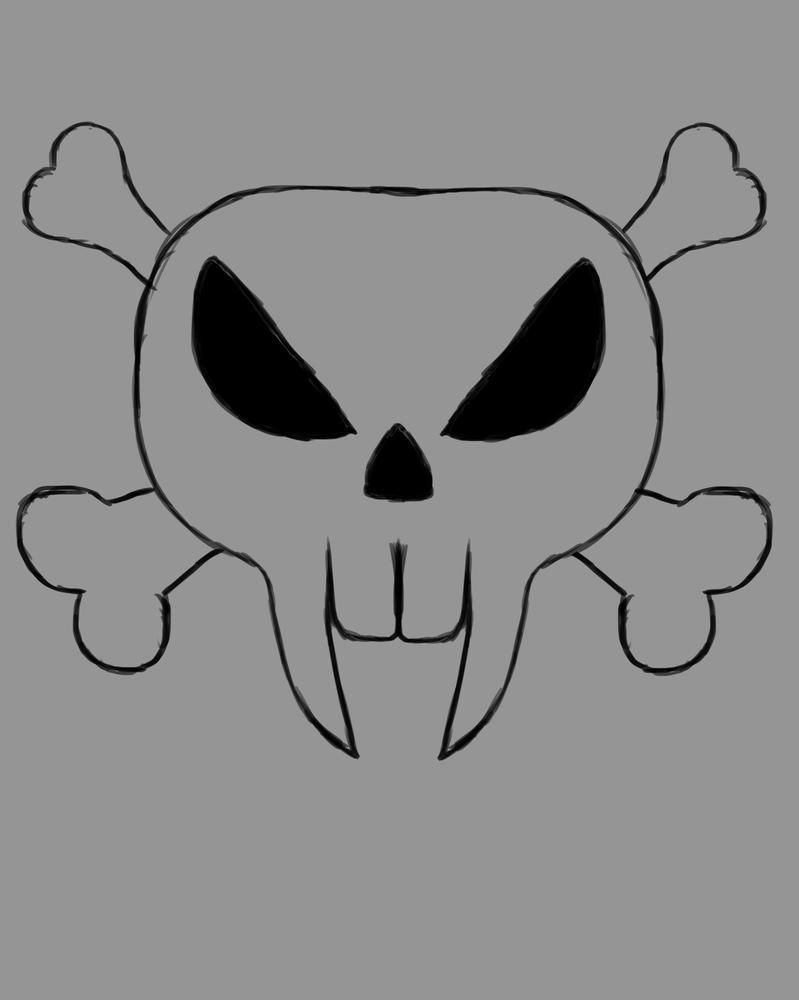 Vamp Skull Daily sketch #641 by GothicVampireFreak