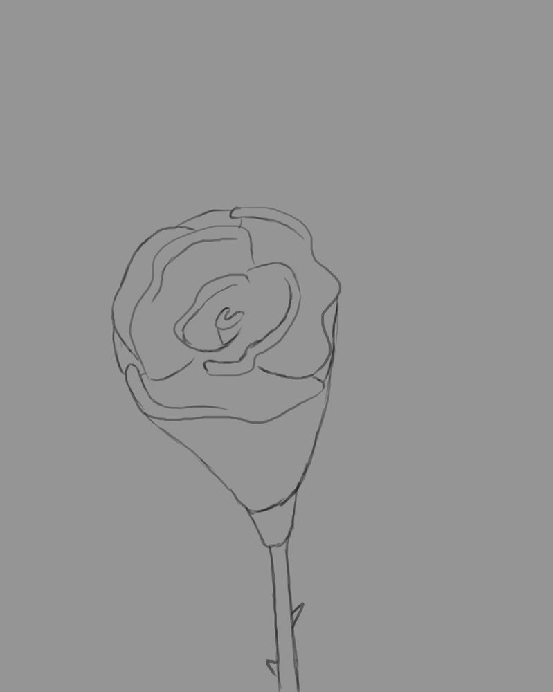 Flower Daily sketch #643 by GothicVampireFreak