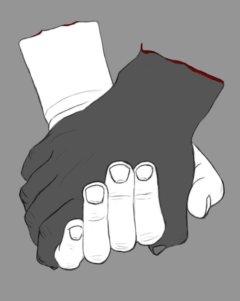Severed Hands Daily sketch #653 by GothicVampireFreak