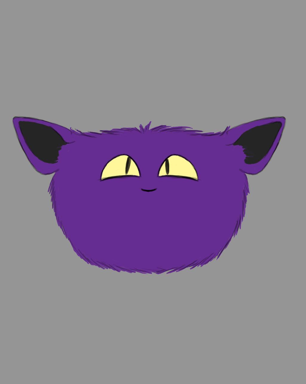 Purple Fluff Daily sketch #662 by GothicVampireFreak