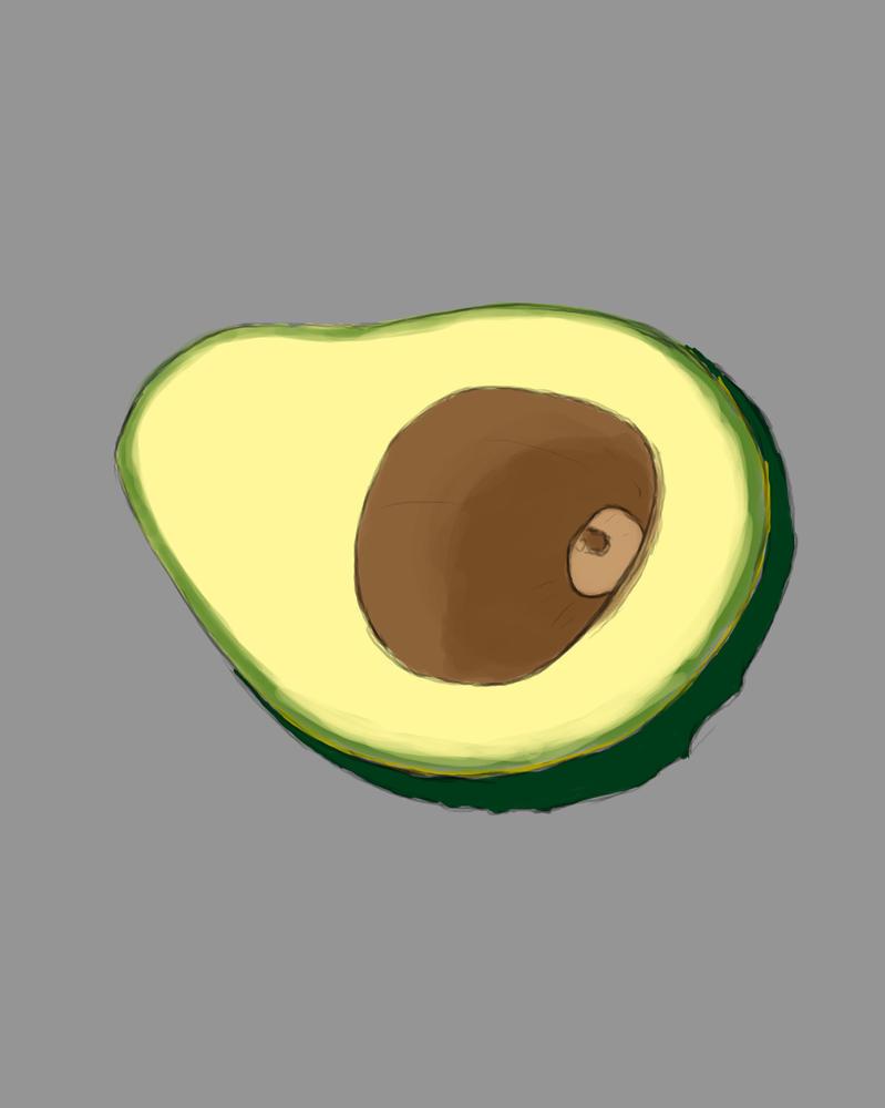 Avocado Daily sketch #664 by GothicVampireFreak