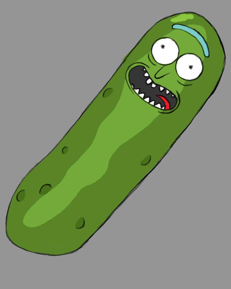 Pickle Rick Daily sketch #683 by GothicVampireFreak