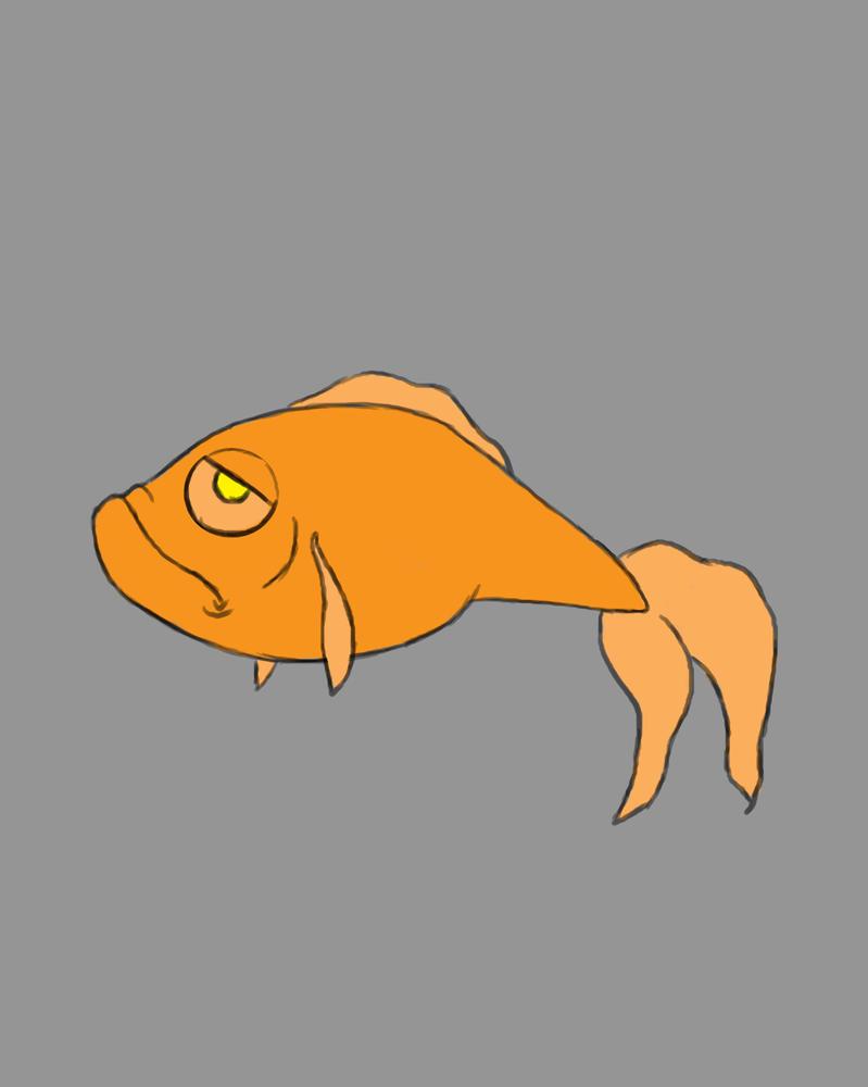 Grump Fish Daily sketch #685 by GothicVampireFreak