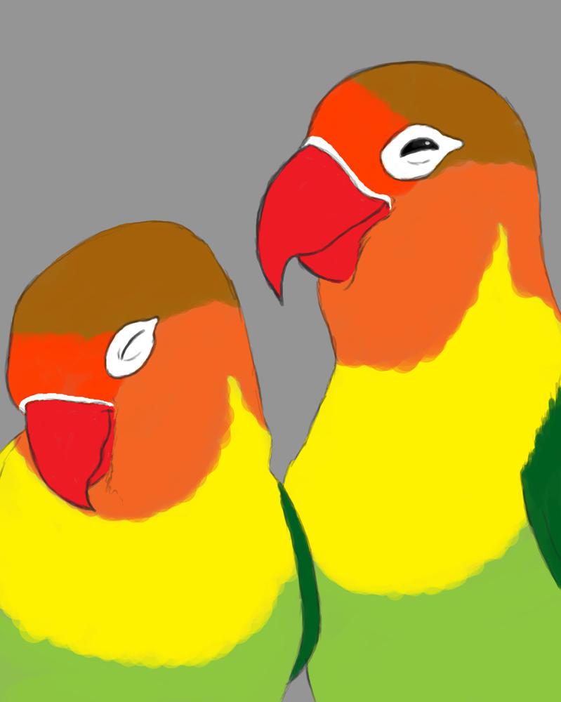 Lovebirds Daily sketch #688 by GothicVampireFreak