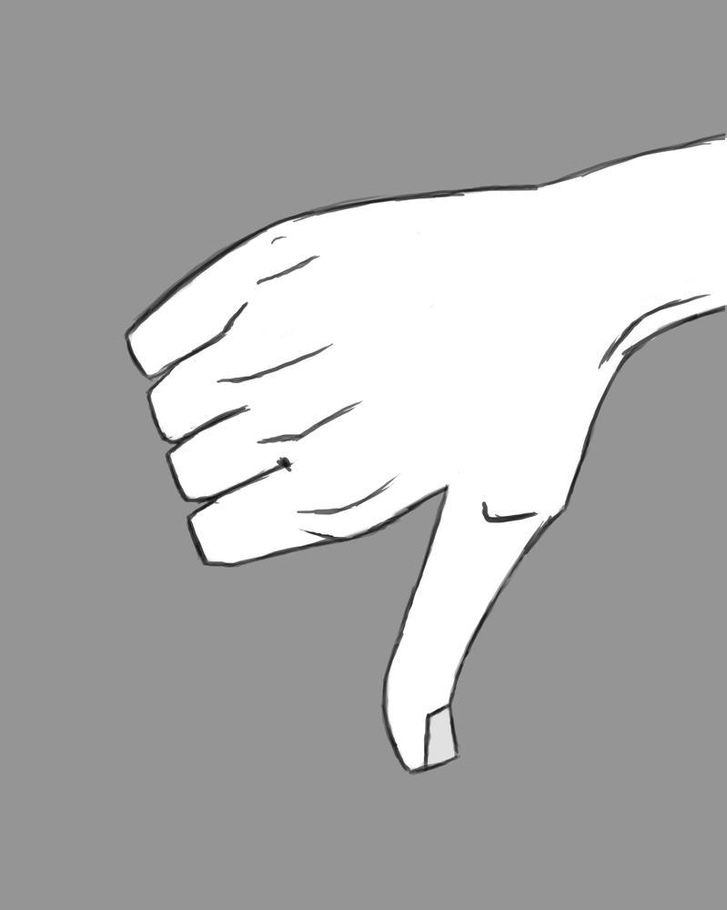 Thumb Down Daily sketch #694 by GothicVampireFreak