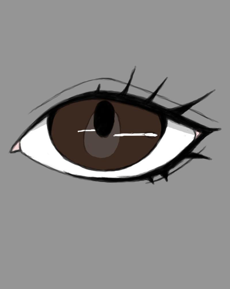 Brown Eye Daily sketch #695 by GothicVampireFreak