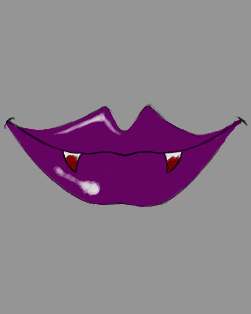 Vamp Lips Daily sketch #697 by GothicVampireFreak