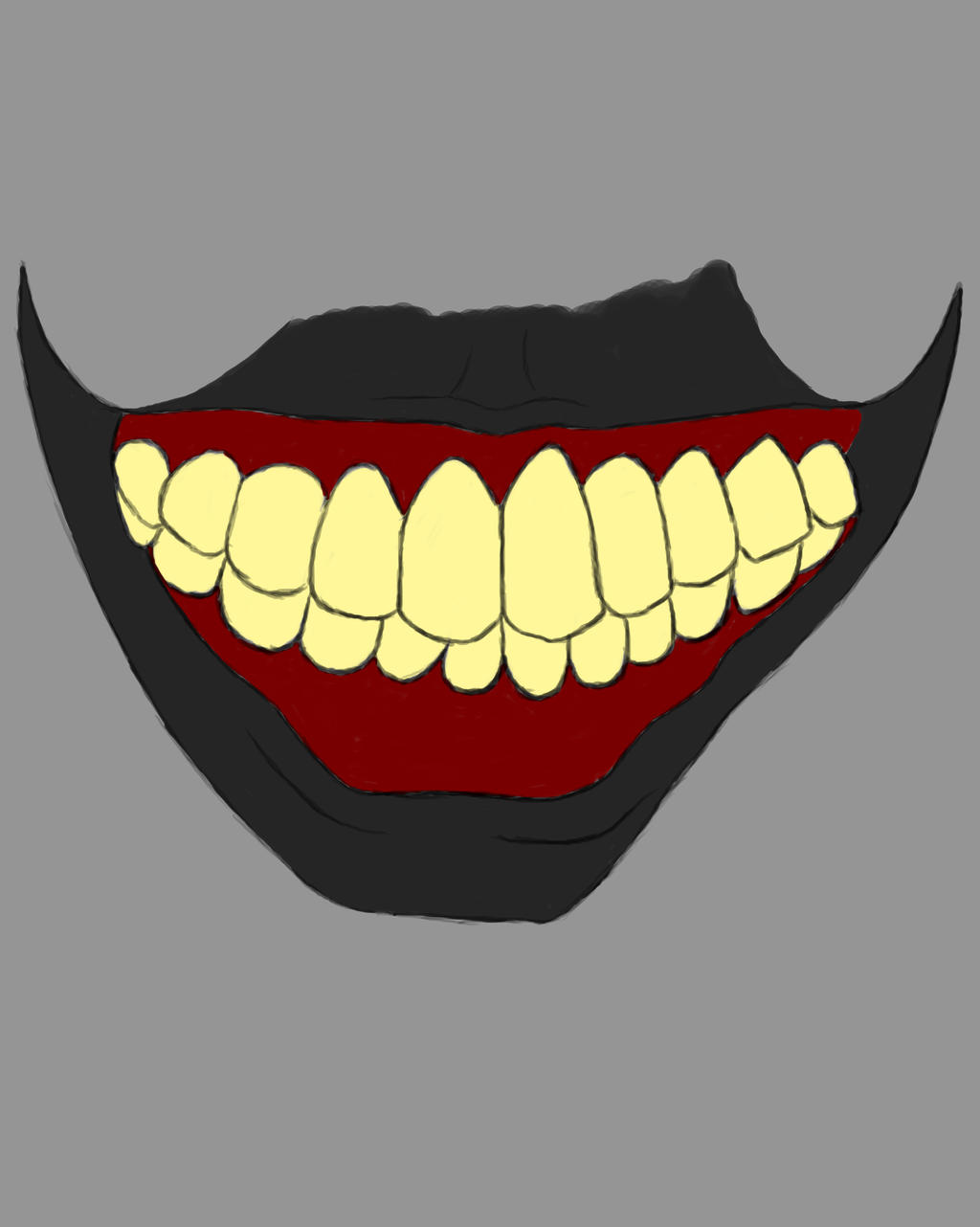 Smile Mouth Daily sketch #699 by GothicVampireFreak