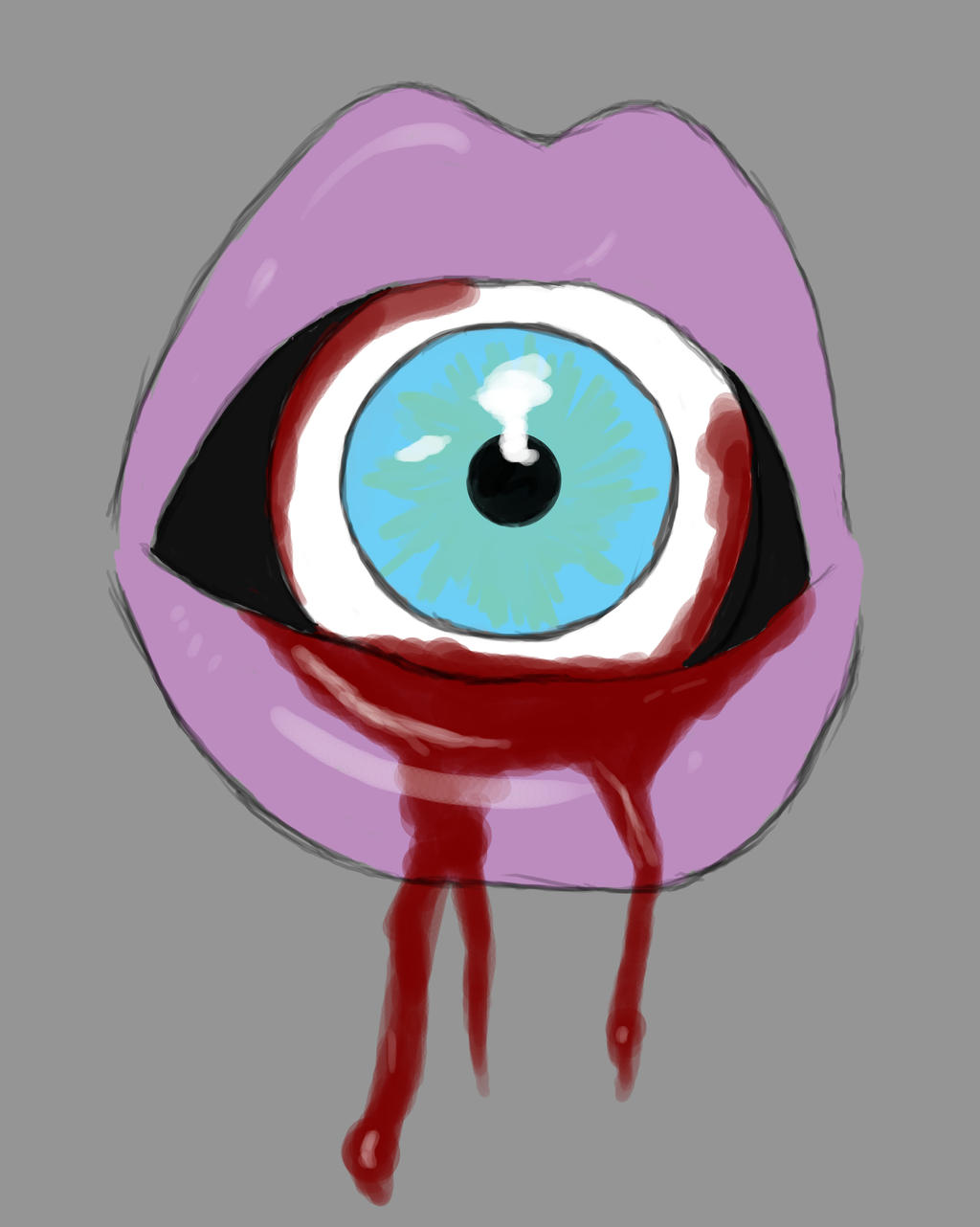Eye Mouth Daily sketch #700 by GothicVampireFreak