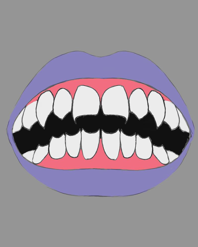 Razor Mouth Daily sketch #708 by GothicVampireFreak
