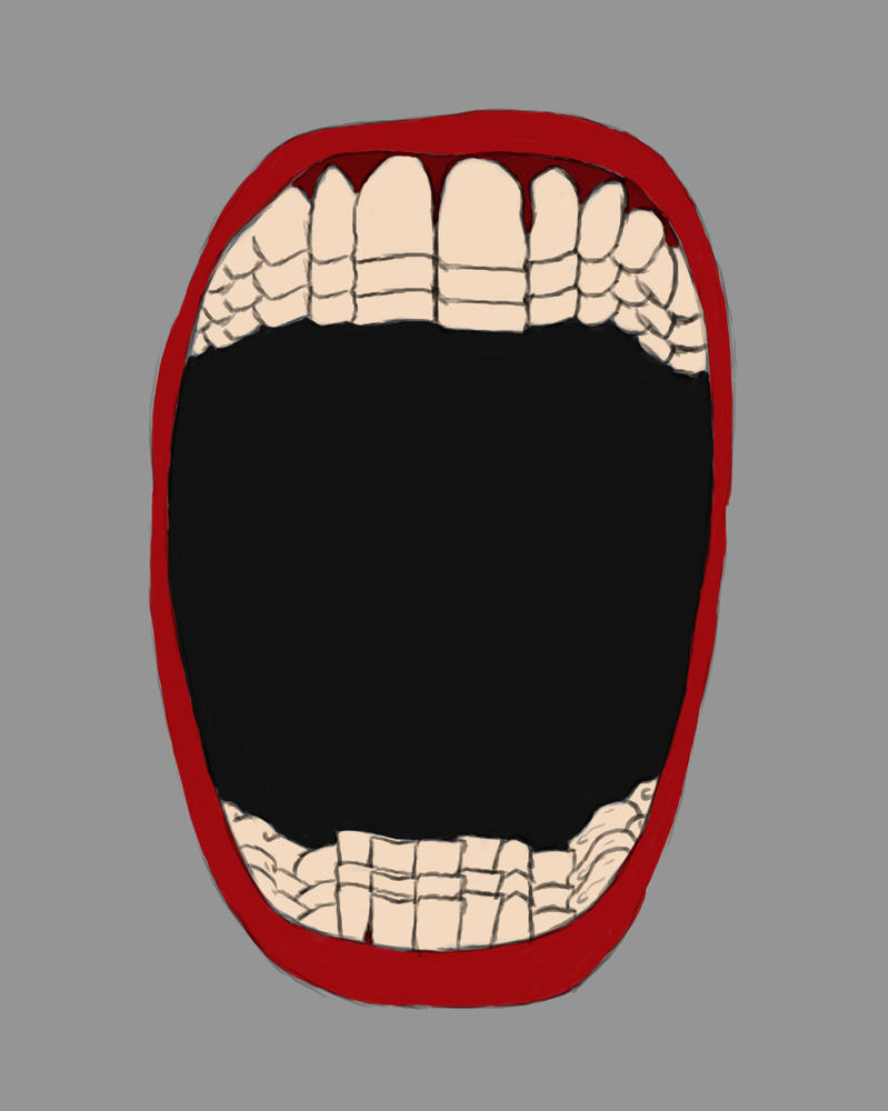 Teeth Mouth Daily sketch #711 by GothicVampireFreak