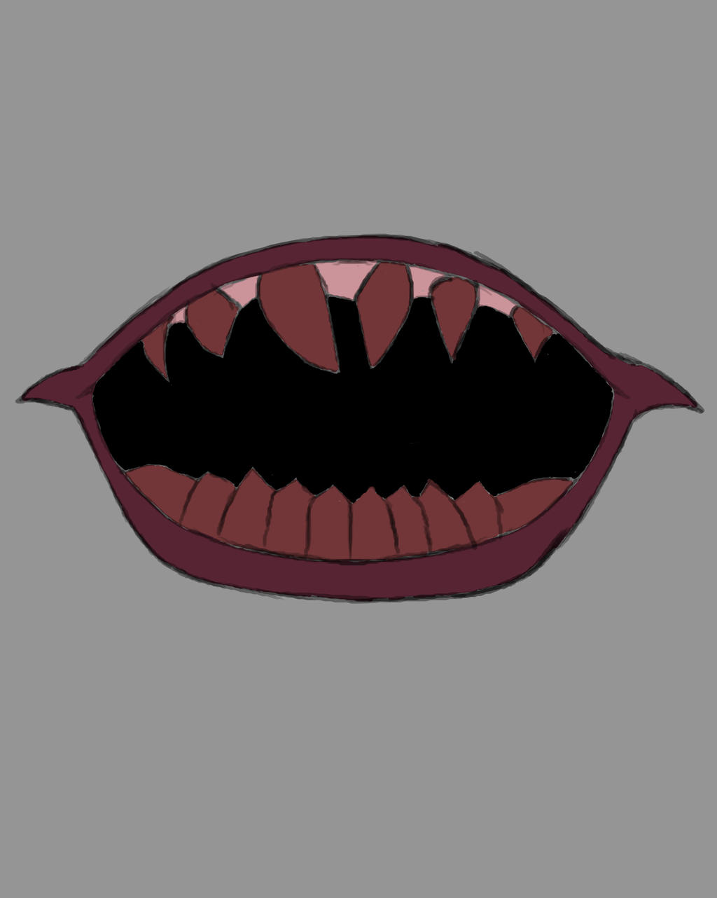 IT Mouth Daily sketch #714 by GothicVampireFreak