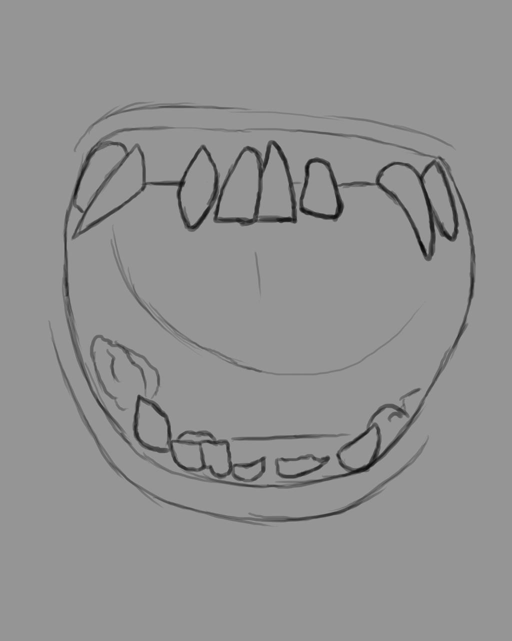 Open Mouth Daily sketch #718 by GothicVampireFreak