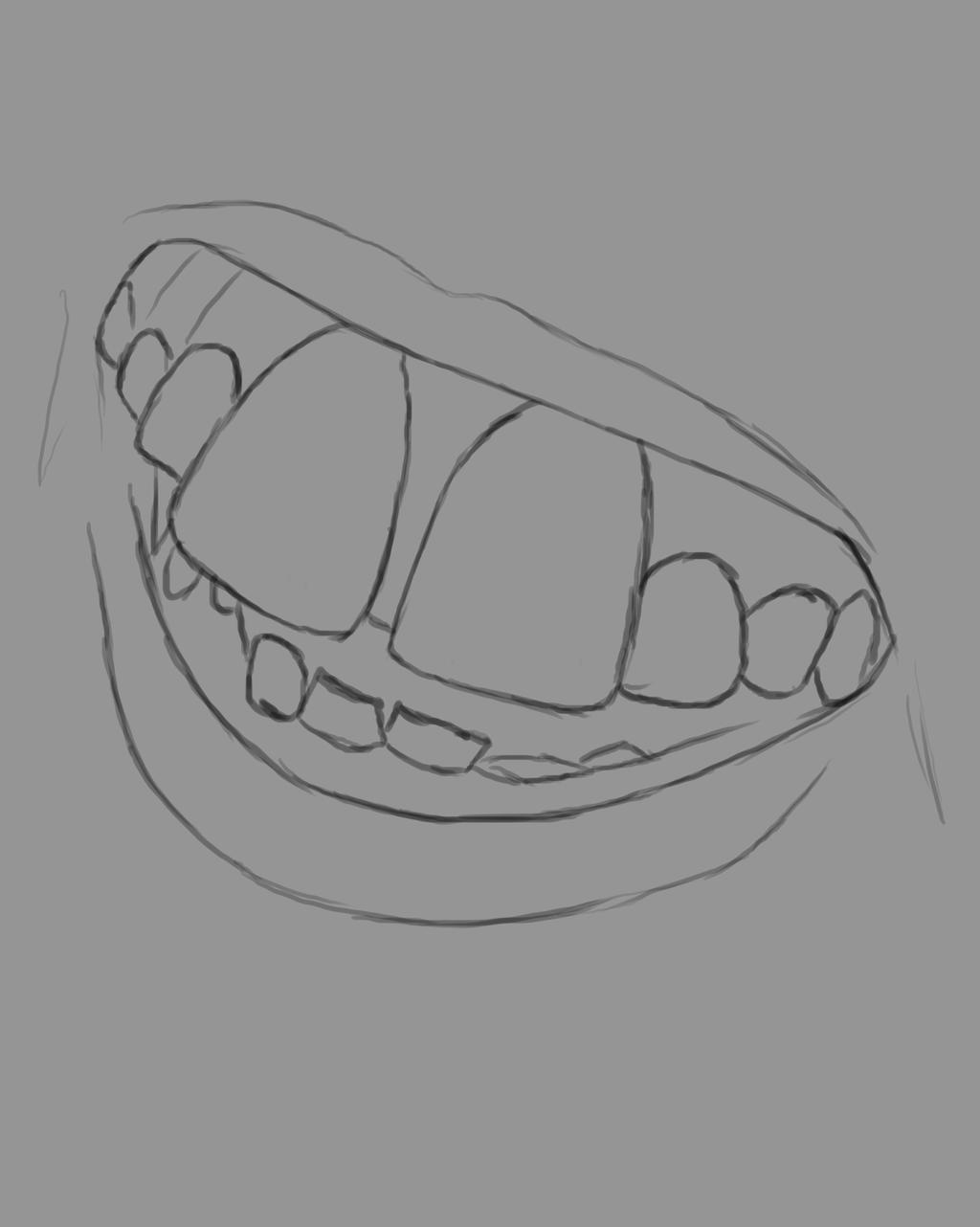 Gingerbread Mouth Daily sketch #723 by GothicVampireFreak