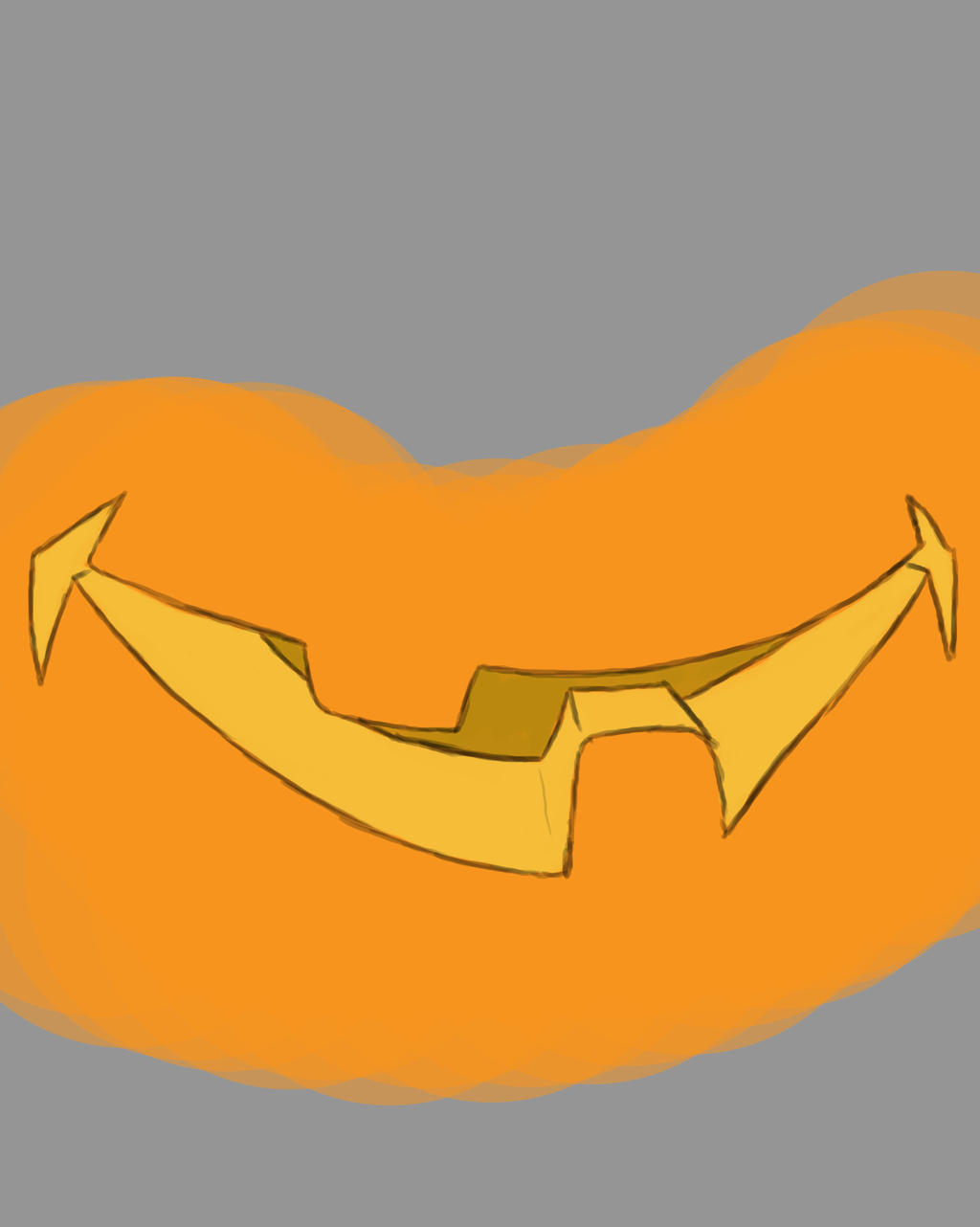 Pumpkin Mouth Daily sketch #726 by GothicVampireFreak