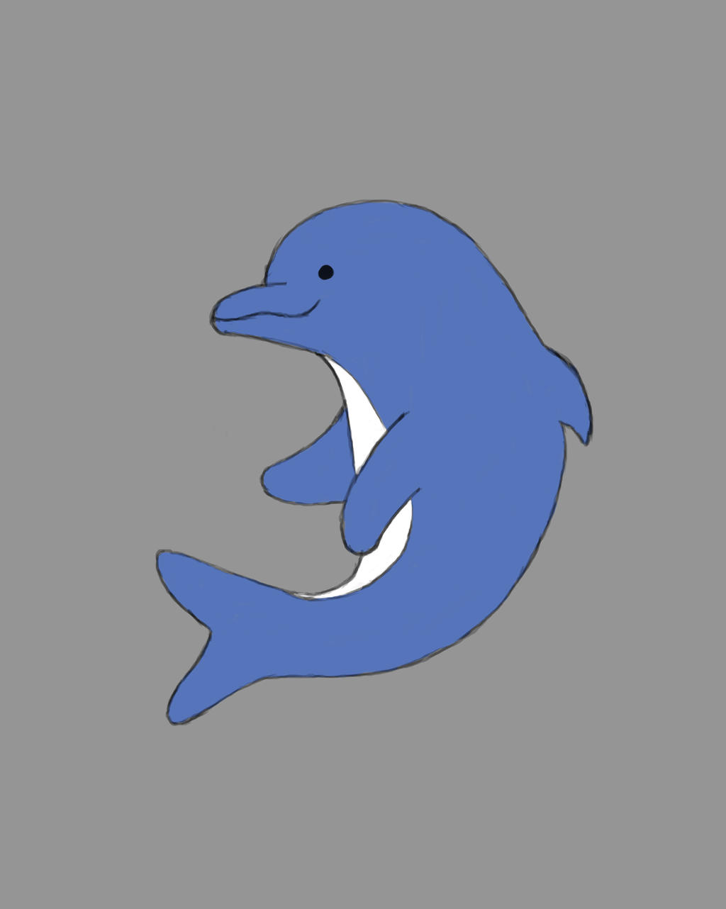 Cute Dolphin Daily sketch #728 by GothicVampireFreak