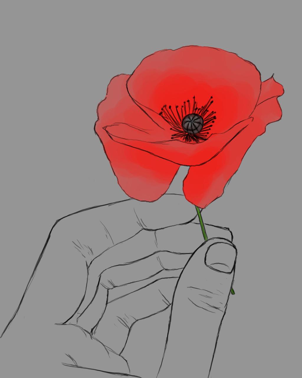 Hand Poppy Daily sketch #729 by GothicVampireFreak