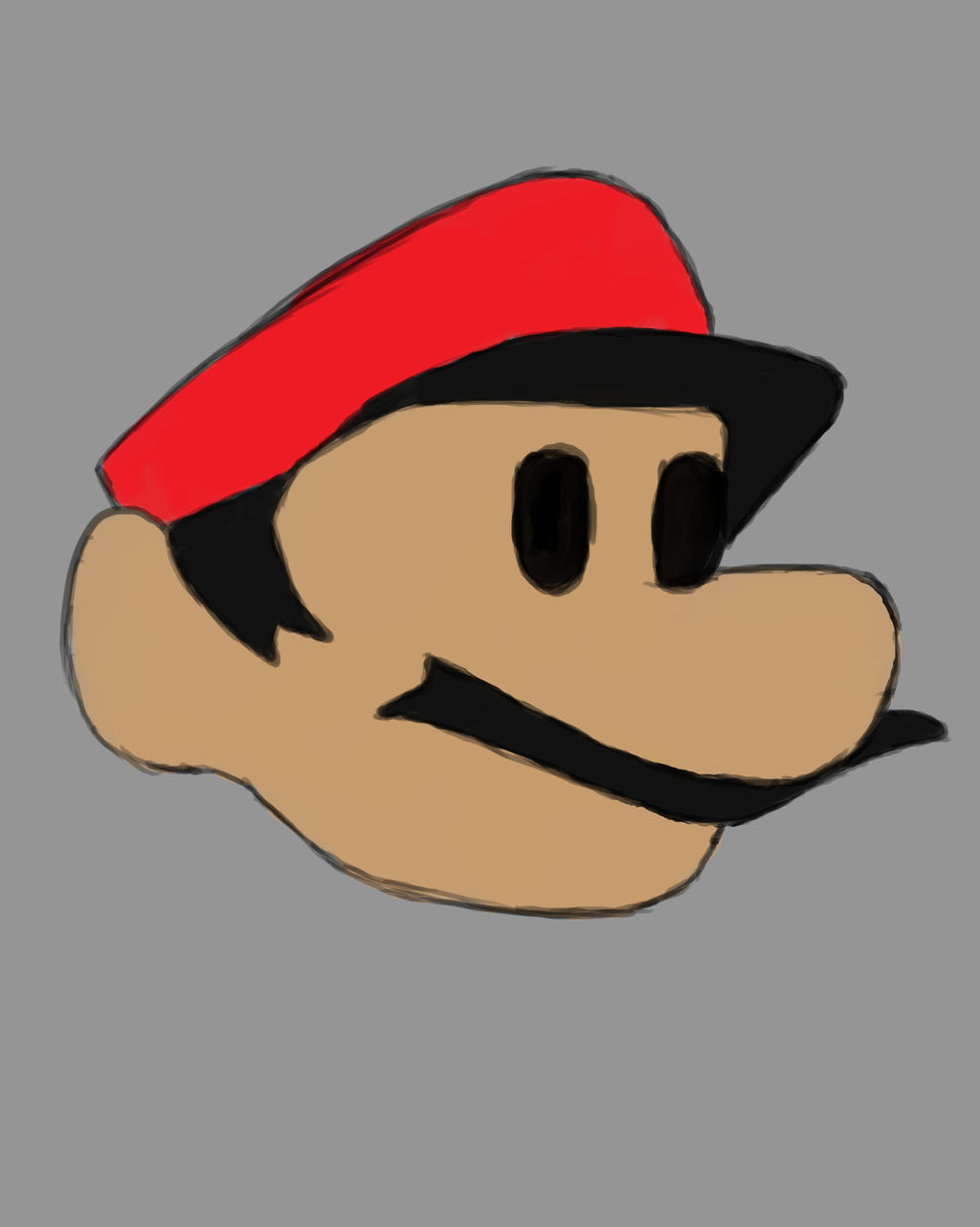 Mario Head Daily sketch #730 by GothicVampireFreak