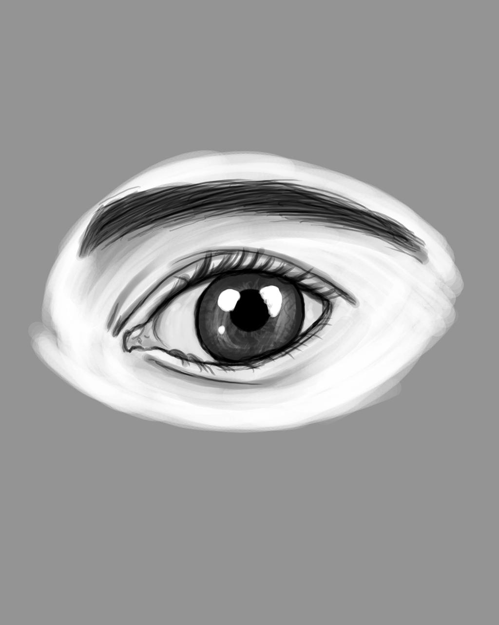 Eye Doodling Daily sketch #749 by GothicVampireFreak