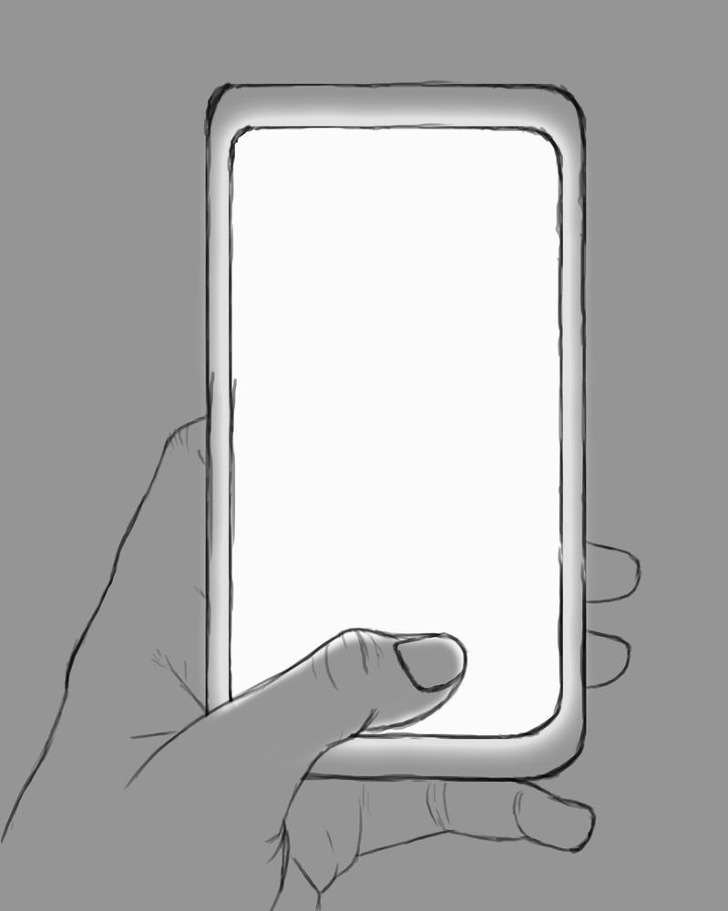 Phone Daily sketch #753 by GothicVampireFreak
