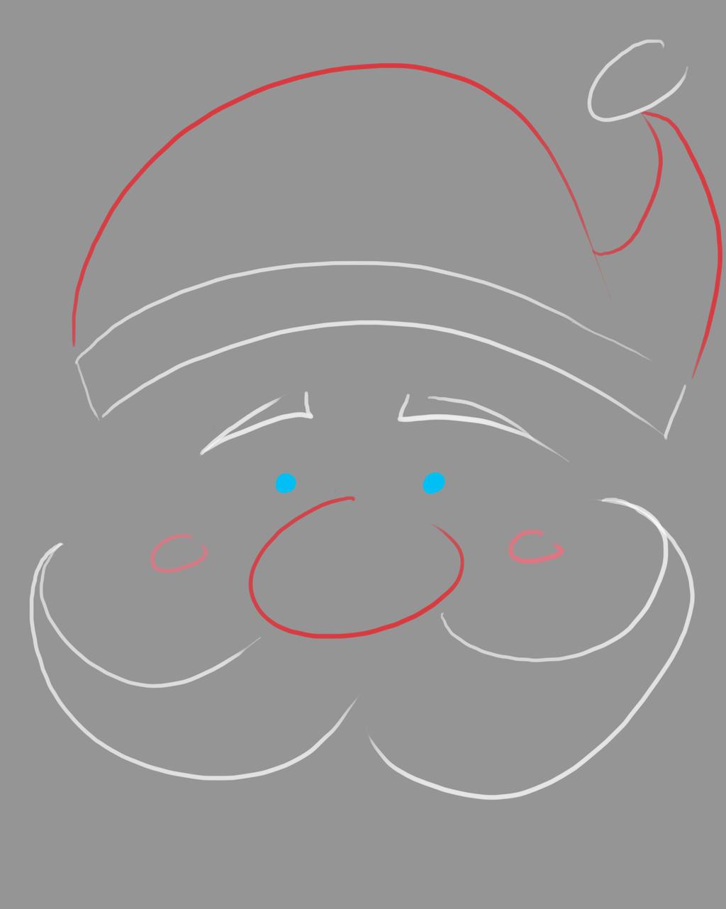Santa Lined Daily sketch #758 by GothicVampireFreak