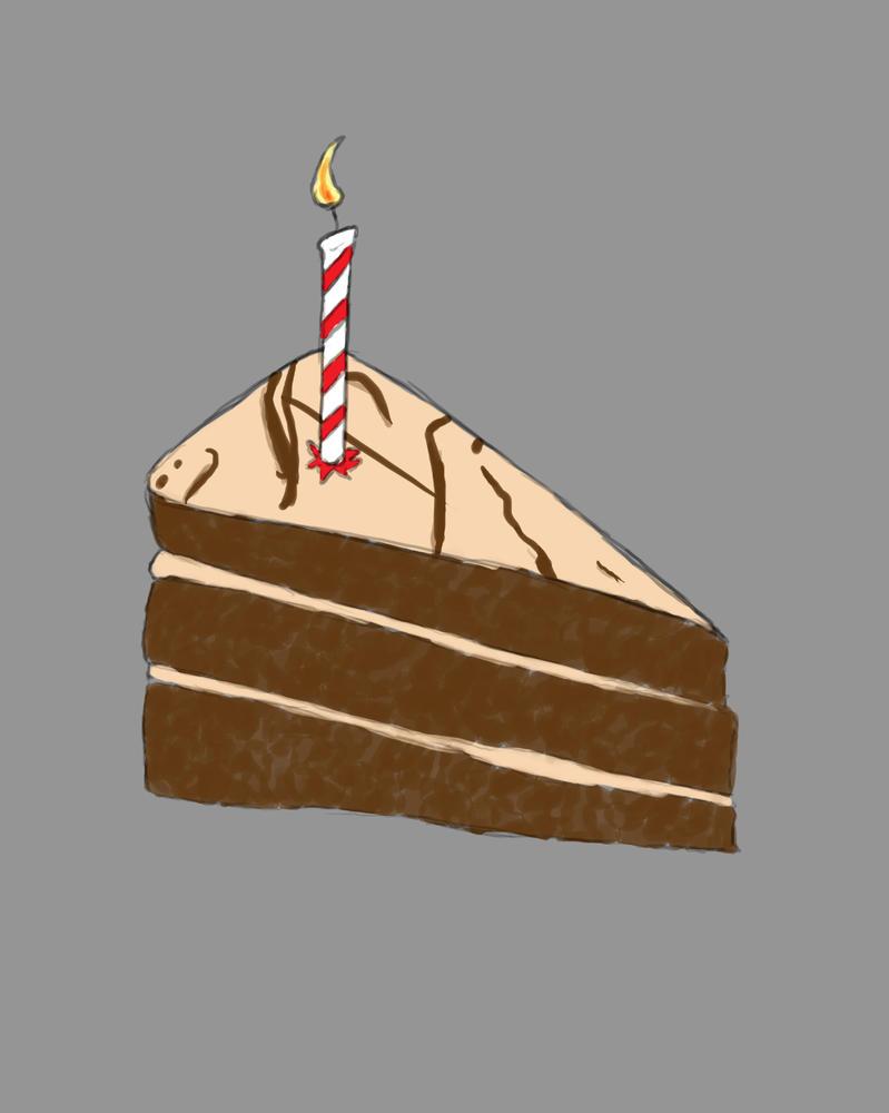 Piece of Cake Daily sketch #760 by GothicVampireFreak