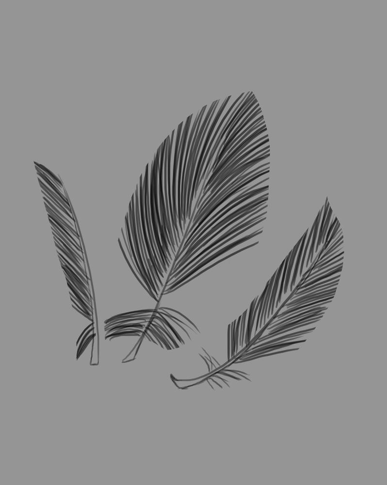 Three Feathers Daily sketch #763 by GothicVampireFreak