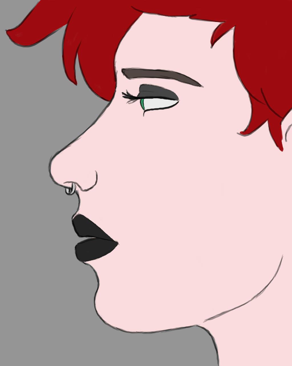 RedHead Daily sketch #764 by GothicVampireFreak