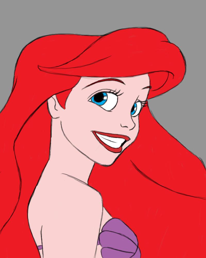 Ariel Smile Daily sketch #772 by GothicVampireFreak