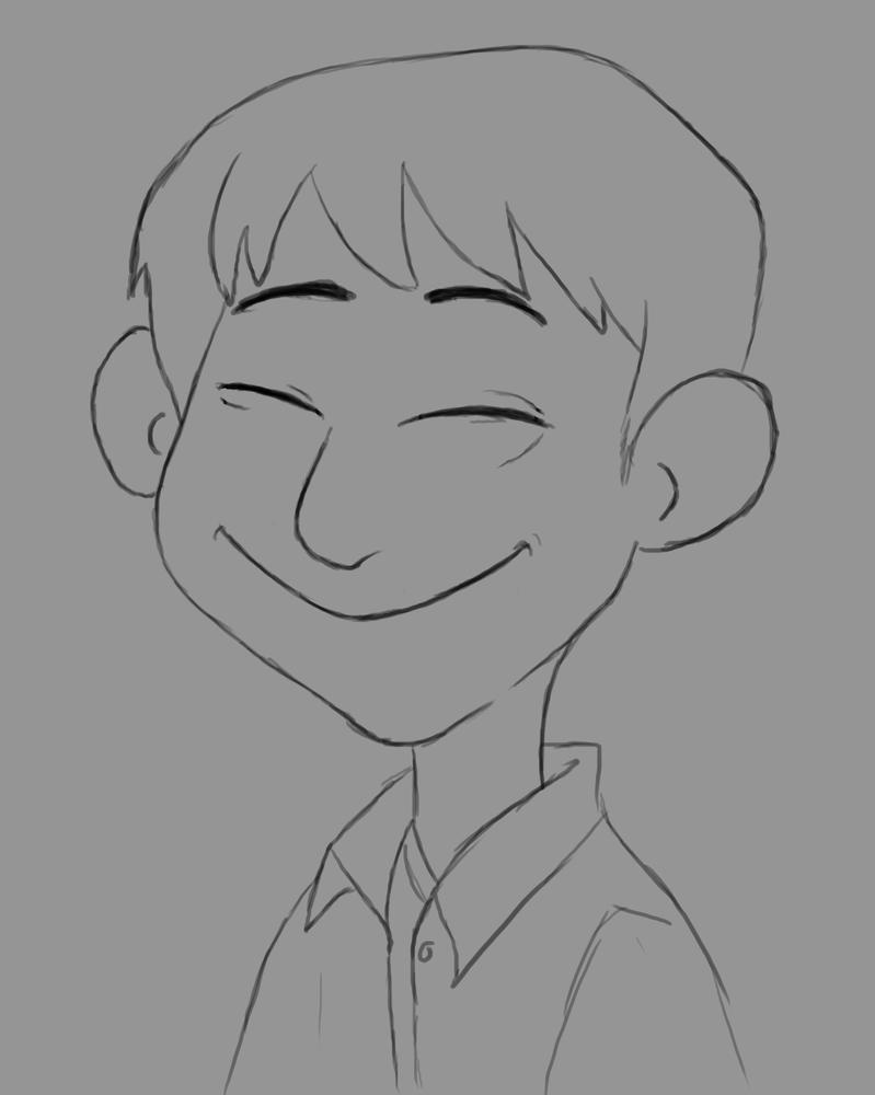 Happy Boy Daily Sketch #782 by GothicVampireFreak