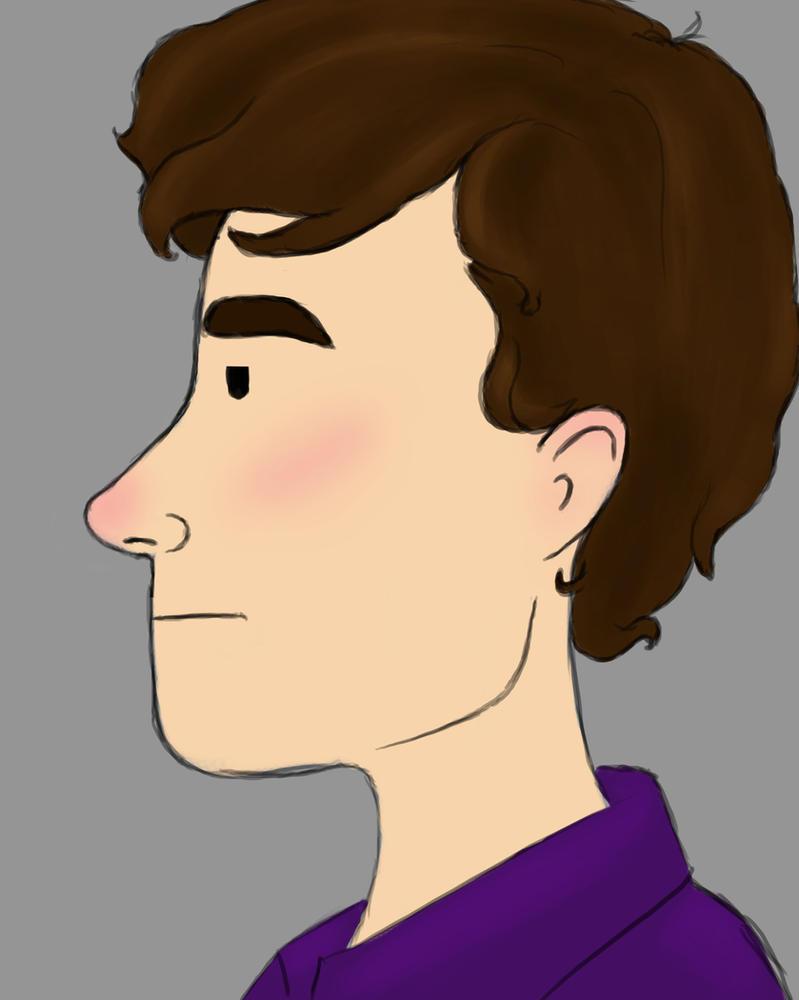 Cute Sherlock Daily sketch #810 by GothicVampireFreak