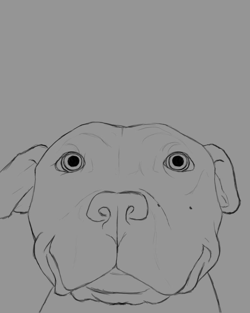 Happy Dog Daily sketch #812 by GothicVampireFreak
