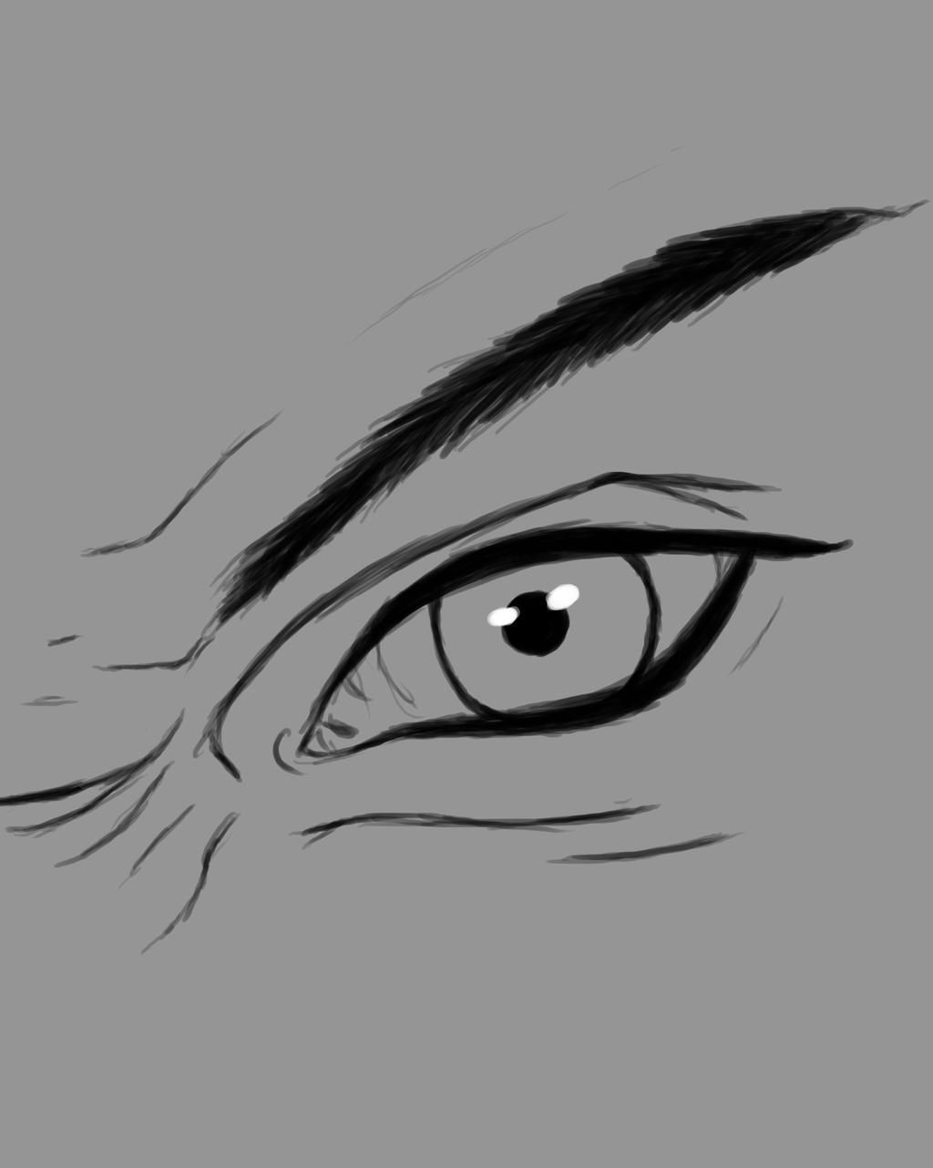 Angry Eye Daily sketch #820 by GothicVampireFreak