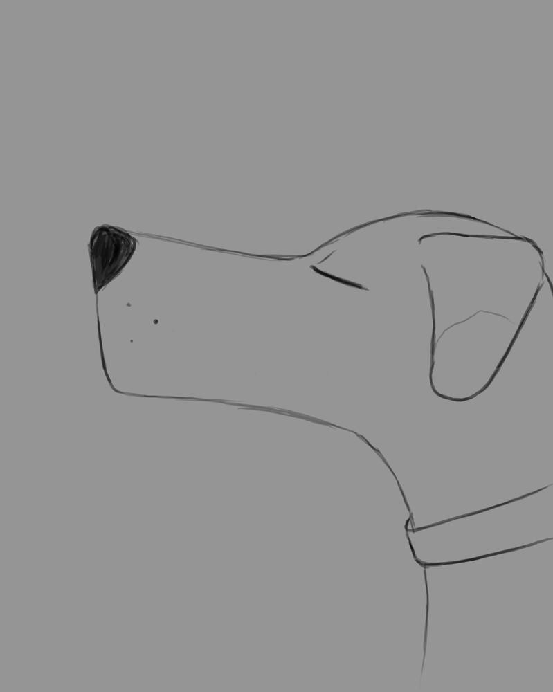 Doodle Dog Daily sketch #822 by GothicVampireFreak