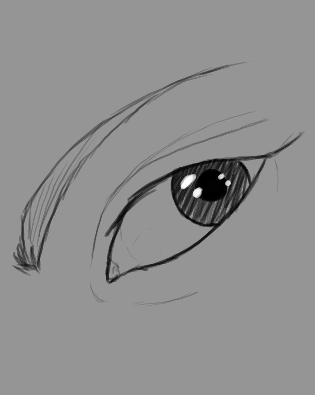 One Eye Daily sketch #829 by GothicVampireFreak
