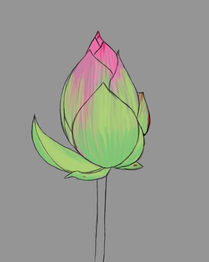 Flowerbud Daily sketch #830 by GothicVampireFreak