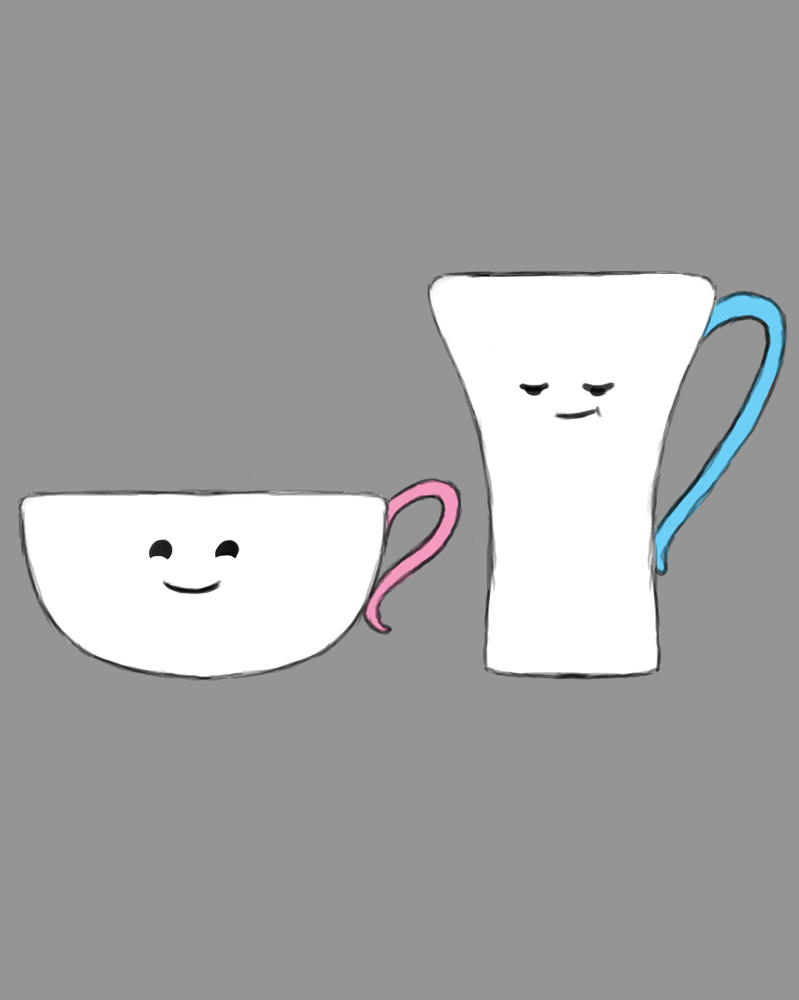 Cups Daily sketch #833 by GothicVampireFreak