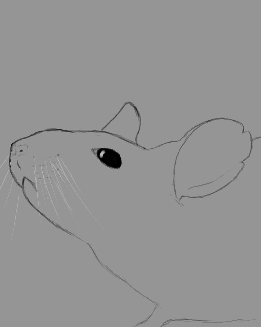 Simple Mouse Daily sketch #839 by GothicVampireFreak
