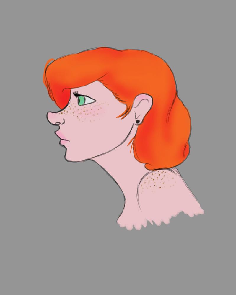 Freckles Daily sketch #849 by GothicVampireFreak