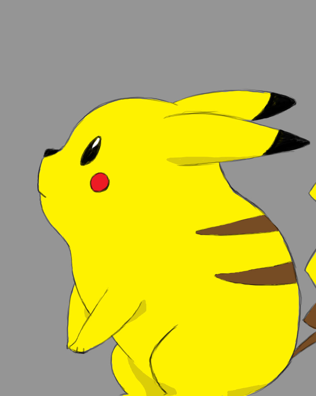 Pikachu Daily sketch #865 by GothicVampireFreak