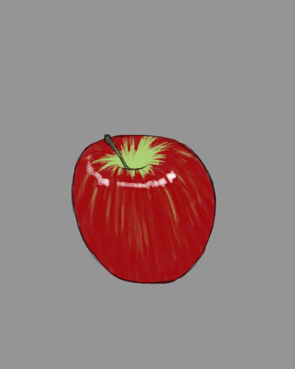 Apple Doodle Daily sketch #874 by GothicVampireFreak